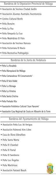Tradicional entrega de banderas en el acto conmemorativo del Día de Andalucía